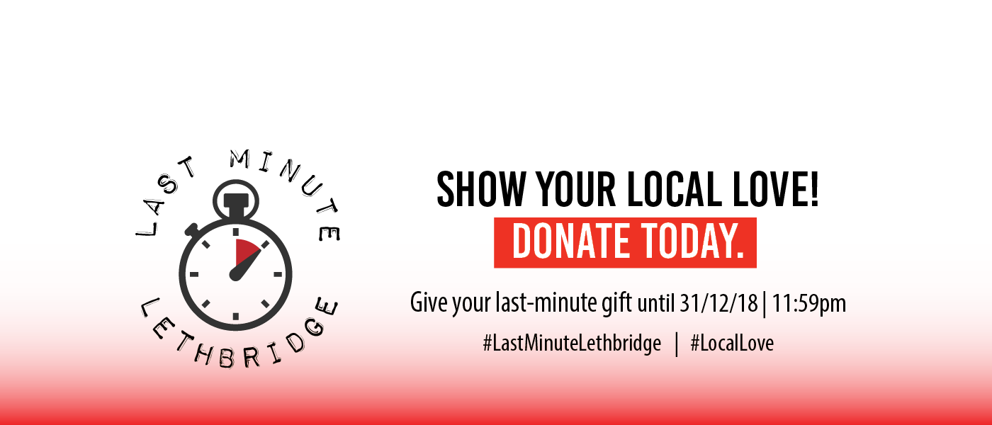 A graphic for United Way's Last Minute Lethbridge donation campaign